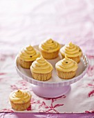 Vanilla cupcakes with passion fruit and white chocolate
