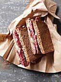 Salami sandwiches
