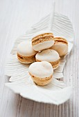 Macaroons with almond cream