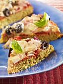 Vegetarische Low-Carb-Pizza