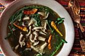 Mushroom curry with chillis (Vientiane, Laos)
