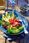 Avocado salad with strawberries