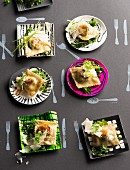 Cabbage ravioli with Parmesan cheese
