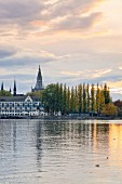 The elegant island hotel on Lake Constance