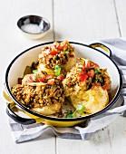 Gebackene Kartoffeln mit Linsencurry