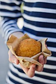 Arancino (stuffed, fried rice ball, Italy)