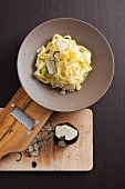 Fettuccine with freshly grated summer truffle