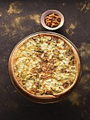 Parsley root and caramelised walnut tart