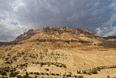 A view from the Ein Gedi kibbutz in the desert by the Dead Sea