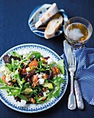 Spicy salad with biltong and nuts