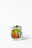 Ura maki with salmon, radish and avocado