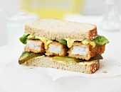 A fish finger sandwich