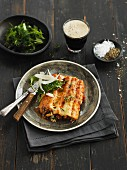 Cannelloni with herbs and Parmesan cheese