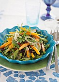 Carrot salad with peas