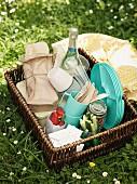 Picknickkorb in der Wiese