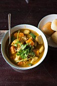 Vegetarian pumpkin curry from Vietnam