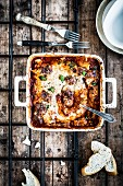 Meatball bake with Béchamel sauce