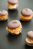 Savoury macaroons with salmon