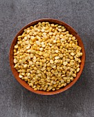 Chana Dal (split chickpeas) in a terracotta dish