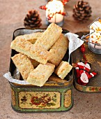 Shortbread in a biscuit tin