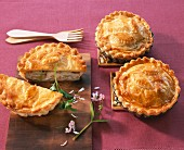Puff pastry fish pies