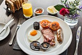 A classic full English breakfast