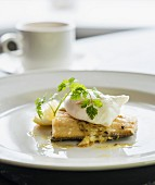 Stockfish with poached egg