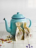 Homemade teabags as a gift