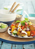 Pumpkin and sweet potato salad
