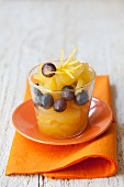 Apple compote with blueberries and lemon