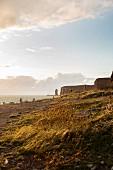 The impressive, steep coast of Helgoland, North Sea