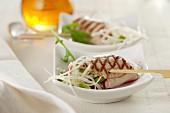 Thunfischröllchen mit Kohlsalat