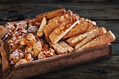 Cantucci on a wooden tray