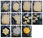 Faltenbrot mit Kräuterbutter zubereiten