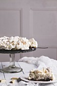 Pina colada cake with meringue, pineapple and coconut