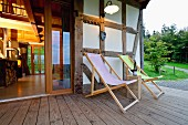 The comfortable veranda of the Hotel Bergdorf Liebesgrün in Sauerland, North Rhine Westphalia