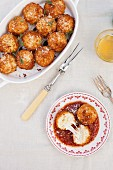 Arancini (fried, stuffed rice balls, Sicily, Italy)