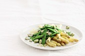 Spring vegetables with melted butter
