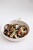Pan-fried wild mushrooms