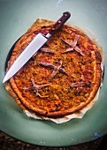Pissaladiere with anchovies (France)
