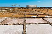 Salinen im El Carmen Salzmuseum an der Ostküste, Caleta de Fuste, Fuerteventura, Kanarische Inseln, Spanien, Europa
