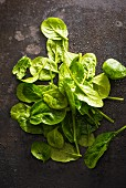 Freshly washed spinach
