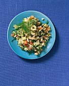 Tabbouleh with hazelnuts and fennel leaves