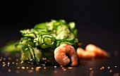 Cucumber salad with prawns and sesame seeds (Paleo diet)