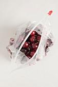 Cherries in a Ziploc bag