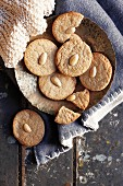 Soetkoekies (South African biscuits) with almonds