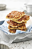 A stack of peanut and caramel squares