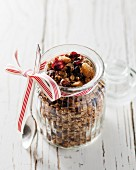 Muesli with dried fruits and ginger
