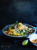 Banana-blossom salad with pineapple-chilli dressing