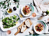 Handmade busiate with pesto and Parsley stracci with bonito crudo